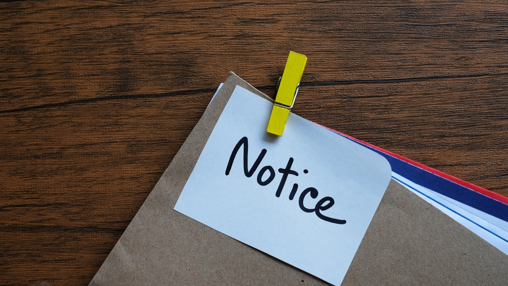what is an insolvency notice